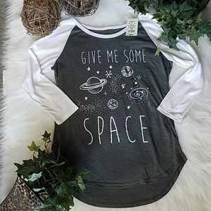 "NWT ""Give Me Some Space"" Raglan Tee"